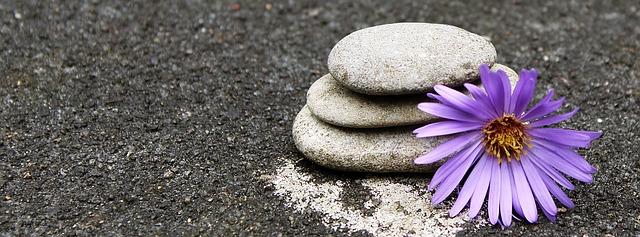 Meditationsbild - in Einklang kommen, Harmonie zwischen Kopf und Herz finden